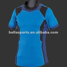 2012 Men's royal muscle shirts Rugby shirts/athletic fit short sleeved rugby shirt