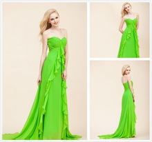 2012 Sweet Heart Fashion Chiffon Bridesmaid Dress with Invisable Zipper