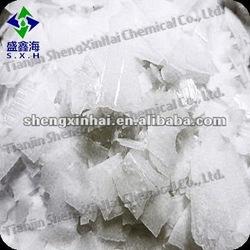 White translucent flake Industrial caustic soda 96%