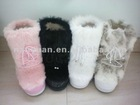 2012 fashion women fox fur snow boot