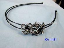 fashion metal headband with crystal for girls