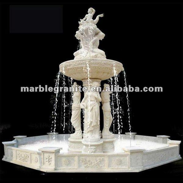 Blanco color de piedra de granito fuentes de agua para el - Fuentes de agua decoracion ...