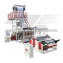 film blowing machine with gusset and sealing and cutting
