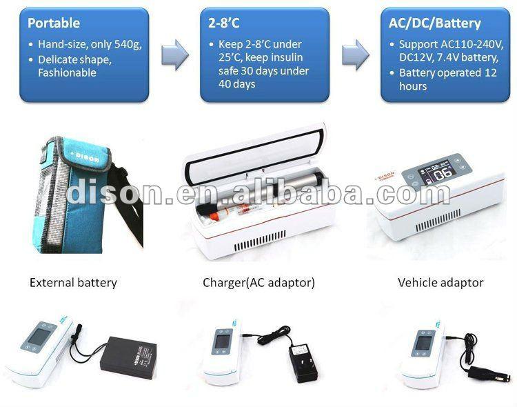 La pluma de insulina nevera portátil para exterior de viaje actividades de la