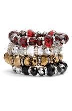 Nordstrom Crystal Collection Squash Bead Stretch Bracelet