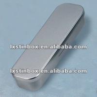 rectangular shape black size:100*38*20mmfor pen package hinged lid tin box