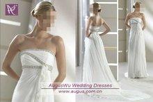 AWB0307 2012 Empire Waist Beach Casual Bridal Gowns In White