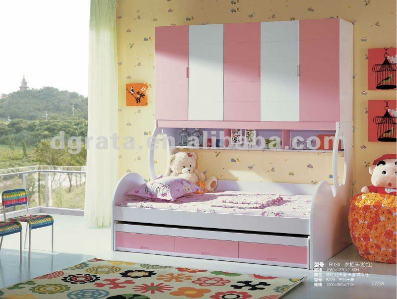 2012 new design DIY children bed is made from MDFboard for