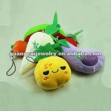fashion fruit anime keychain plush toys