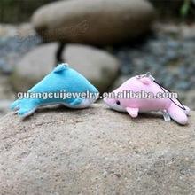 fashion dolphin plush toy keychain