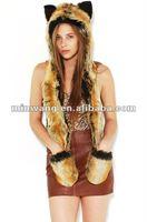 Stylish fur hat animal ears,faux fur animal hat