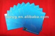 L shape Plastic document file folder