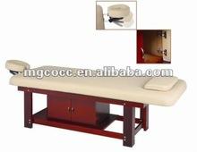 2012 Popular spa wooden massage table massage bed 6288-31