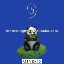 Panda Figurine Desk Memo Note Holder