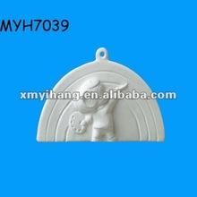 2012 new fashion ceramic rainbow bisque ornament