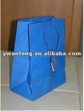 blue elegent printed shopping bag for clothes