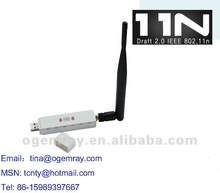 150Mbps USB 2.4 GHz Wireless WIFI Long Range Network Adapter with Foldable Detachable 5dbi External Antenna