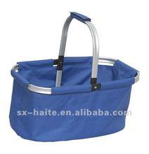folding shopping basket for vegetable or picnicMarket toteSupermarket cart bag(Fashion,Eco-friendly,safe)