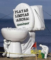 Large inflatable advertising white toilet