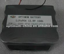 12V 15Ah lifepo4 battery for solar,LED light,ups,electric tool,pump