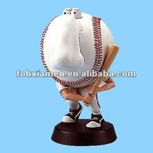 resin baseball eyeglasses stand statue