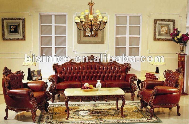 European Classical Wooden Living Room Furniture Sofa Set MOQ 1SET B10294 Vi