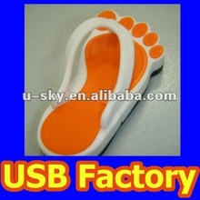 Rubber USB 2.0 Flash Drive, Available 1GB/2GB/4GB/8GB/16GB/32GB/64GB, Flip-Flop USB Stick Flip Flop
