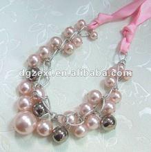 Pink ladys fashion necklace 2012