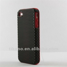 Newest design mesh case+hard cover case for iphone 4 4s