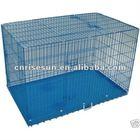 "48"" 3 Door Folding Suitcase Dog Crate Pet Cage Cat Kennel w/DIVIDER Metal Pan"