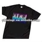 100% cotton el shirt /led t-shirt