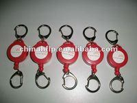 custom retractable pull reel key chain