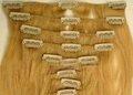 humanos clip del pelo en extensiones de cabello