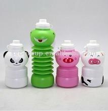 2012 Animal Figure Folding Water Bottle For Kids