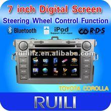 "7"" Car Radio DVD Player GPS Navigation Fits 2008 2009 2010 2011 Toyota Corolla"