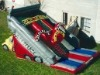 dual lane truck inflatable slide