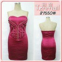 2012 Elegant Red Beaded Showy Dress