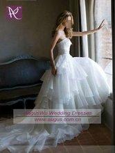 AWB0336 2012 Elegant White Tiered Organza Wedding Dress Bridal Gown