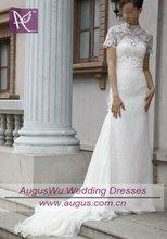 AWB0338 2012 Short Sleeve Jacket Mermaid Lace Wedding Gowns