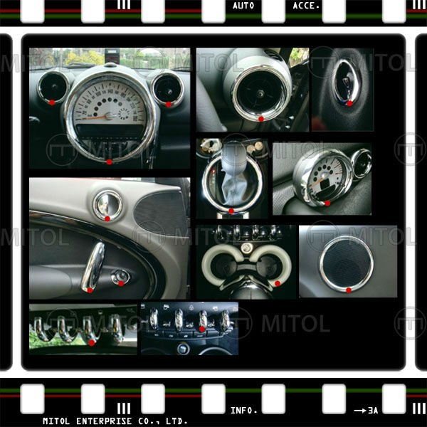 For Mini Cooper R60 Countryman Chrome Interior Kit Rim Buy Interior Kit Chrome For Mini