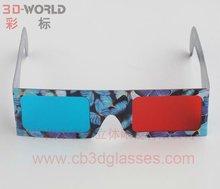 2012 newest 3d red blue eyewear paper frame