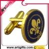 2012 round gold enamel fashion jewelry cuff link