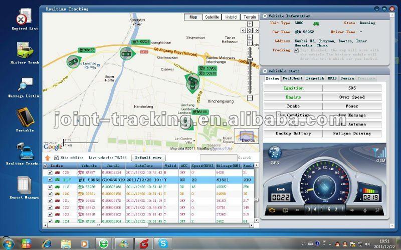 Gps Tracker Software For Fleet Management And Mobile Asset