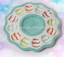 2012 Daily Use Ceramic Plate For Egg Holder