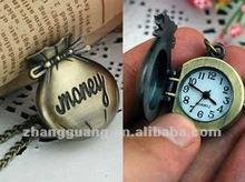 2012 latest money purse pocket watch pendant necklace