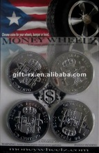 custom plating plastic engraved silver coin