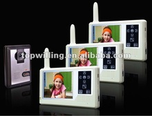 "3in1 3.5"" 2.4G wireless video door phone intercom manufacturer 2012"