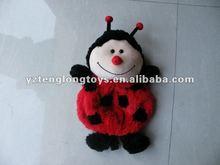 2012 new custom fashionable and cute kids animal school ladybug plush backpack