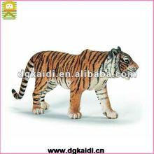plastic cartoon animal tiger figurines toys