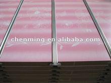 MDF display board with aluminium bar